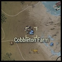 Location of Cobbleton Farm on the Map