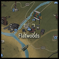 Location of Flatwoods on the Map