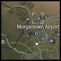Location of Morgantown Airport on the Map