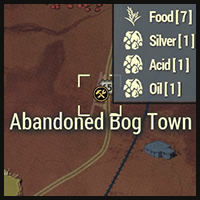 Abandoned Bog Town - Map Location