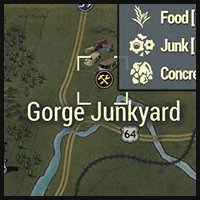 Gorge Junkyard - Map Location