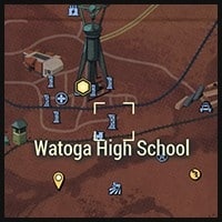 Watoga High School - Map Location