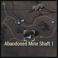 Abandoned Mine Shaft 1 - Map Location
