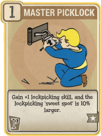 Master Picklock - Perk Card