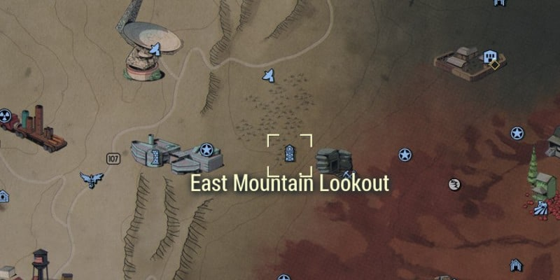 East Mountain Lookout Location on the Map