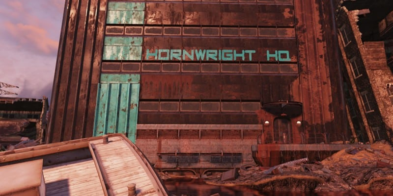 Entrance to Hornwright Industrial Headquarters
