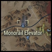 Monorail Elevator - Map Location